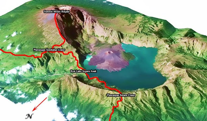 Map of Mount Rinjani
