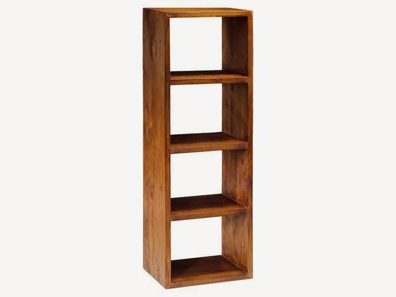 Estante madera colonial, estanteria 3 estante nogal