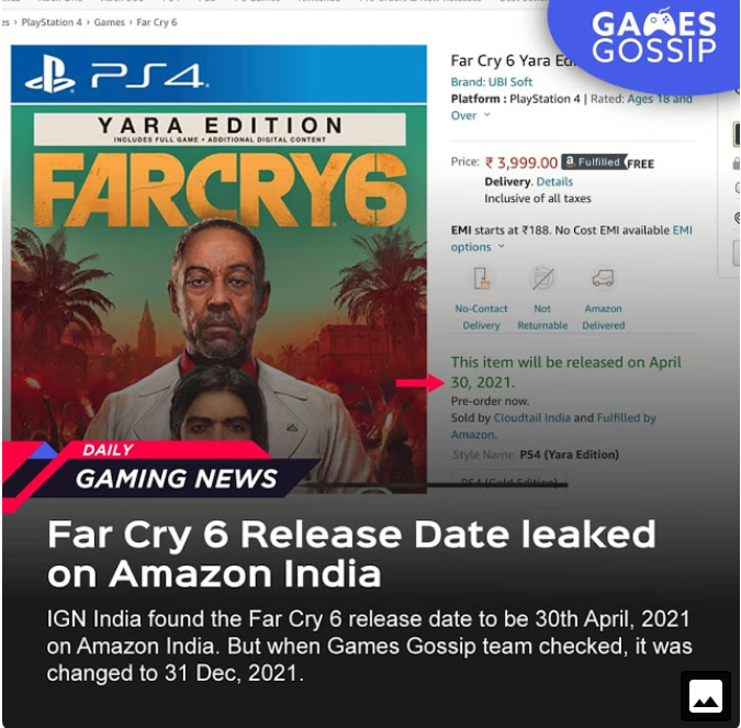 Farcry 6 release revealed ?