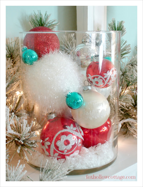 Quick Ideas Decorating With Christmas Ornaments - Fox Hollow Cottage