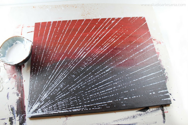 DIY Striking abstract art with bronze touch