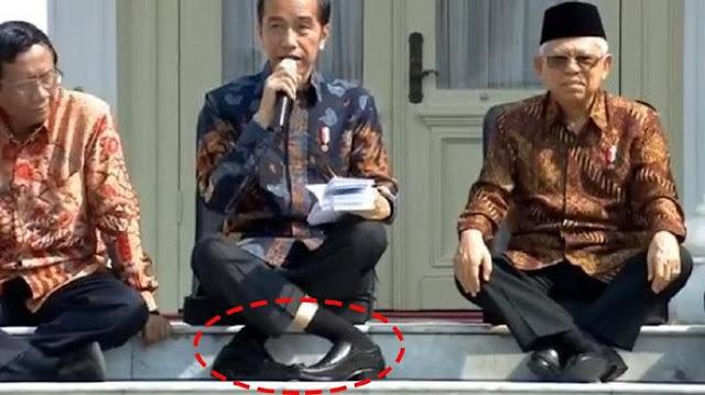Jokowi Buka Suara Soal Posisi Duduknya yang Viral Dijadikan Challenge
