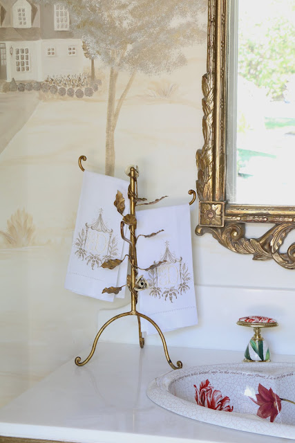 Inspirational These gorgeous monogrammed pagoda towels from Hempstead Thread give a nod to my chinoiserie loving self So many delightful towels to choose from for every