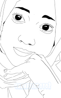 Cara edit foto line art