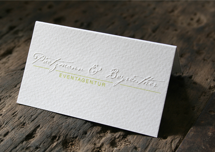 Silke Jaspers Visitenkarten Mit Blindprägung