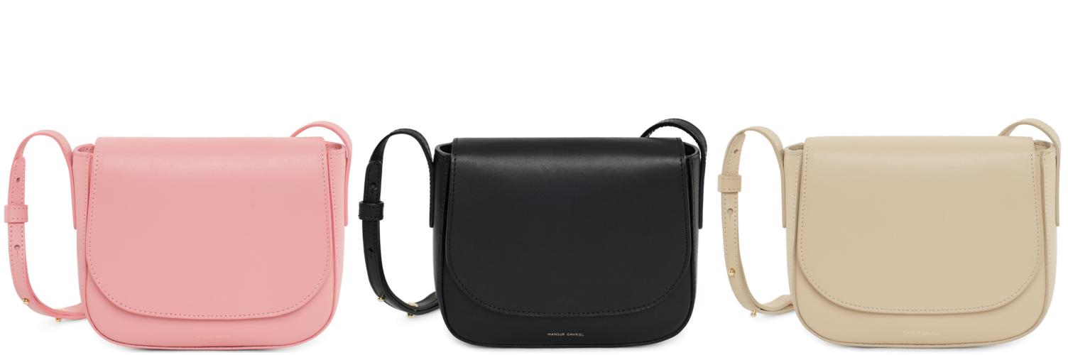 2e33a47ebda34 MANSUR GAVRIEL mini bucket bag   mini crossbody. Pomimo ogromnej  popularności torebki typu   bucket bag   - czarnej z czerwonym wnętrzem ...