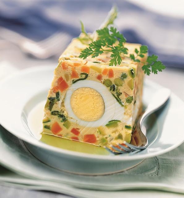 Terrine de légumes aux œufs