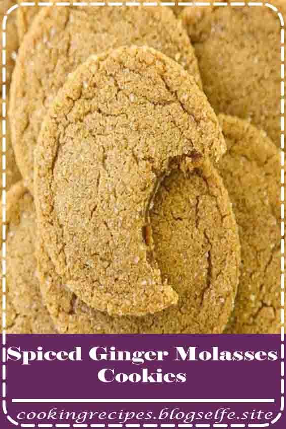 4.8 ★★★★★ | Soft & Chewy Ginger Molasses Cookies are perfect for the holidays! Lovely combination of spices give these Molasses Cookies incredible flavor and texture. #cooking #recipes #desserts #baking #families