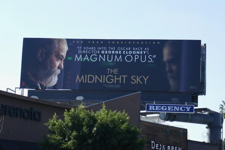 Midnight Sky film FYC billboard