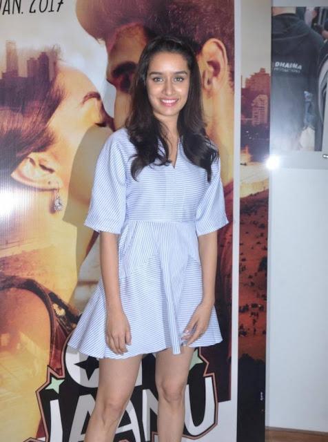 Shraddha Kapoor Stills At Ok Jaanu Media Interaction