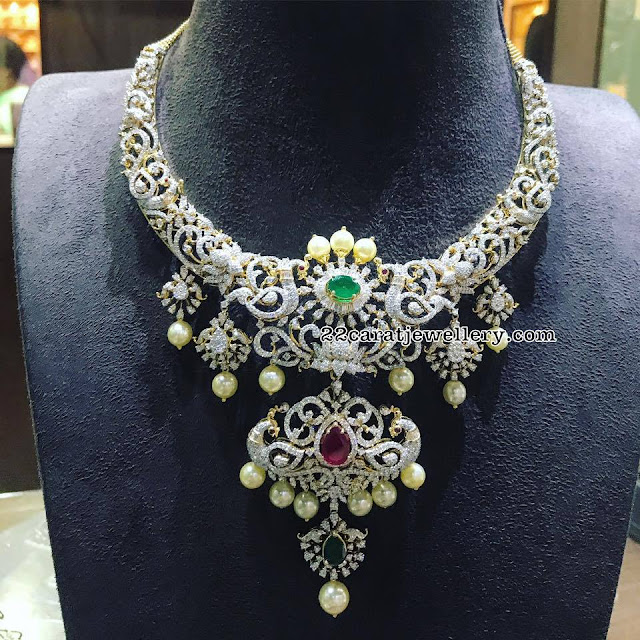 Peacock Diamond Set by P Satyanarayana Jewellers
