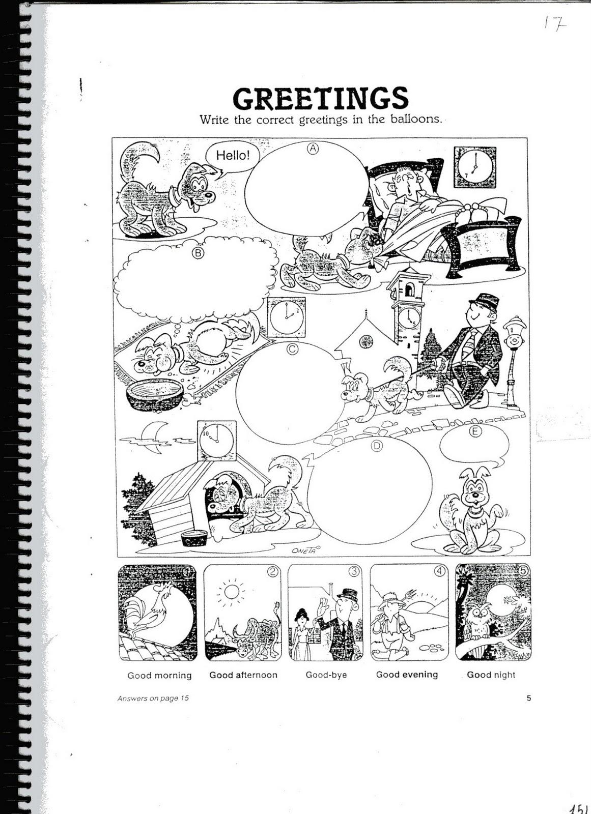 Fichas De Inglés Ficha Greetings 1 Greetings Worksheets