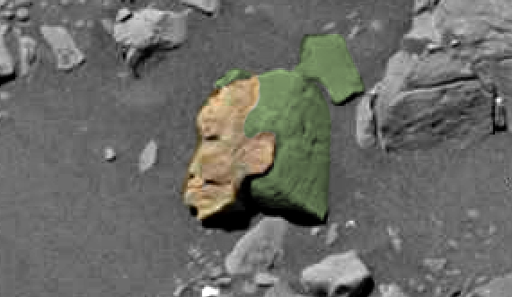 Ufo sightings daily alien face of woman carved in stone found on