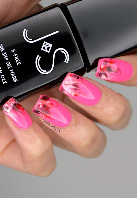 Valentine's Nail Art Needle Marbling Gel Polish