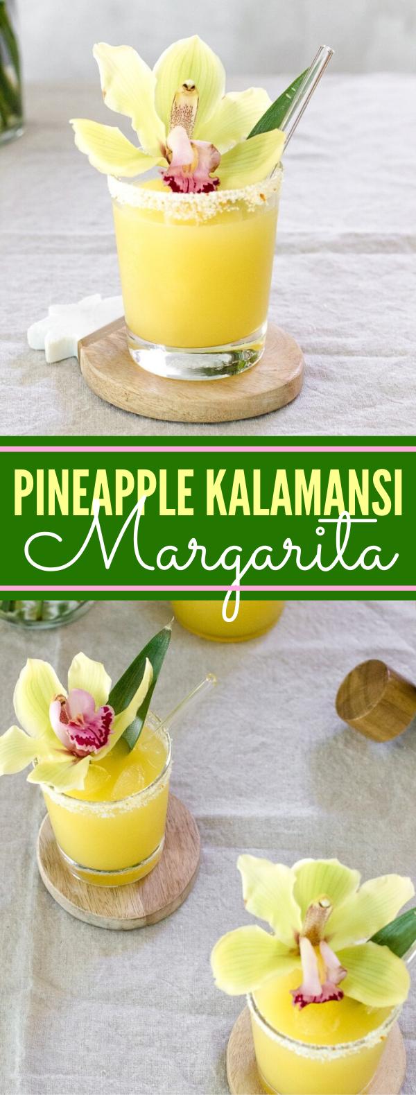 Pineapple Kalamansi Margarita #drinks #cocktails