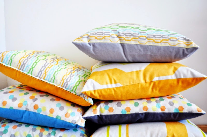 Pastel Design cushions from Couch Design Bristol