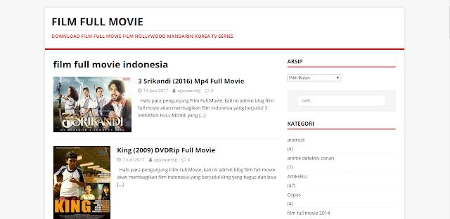 Kumpulan Situs Tempat Download Film Indonesia Terbaru