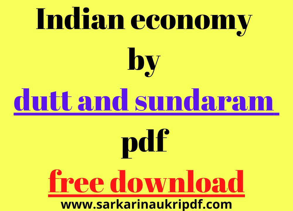 Indian economy by dutt and sundaram pdf free download