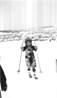 Young Claude Marceau on Skis