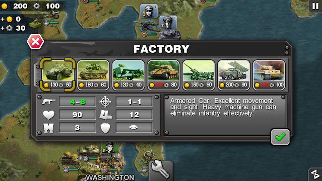Screenshot Glory of Generals World War 2 - Apcoid