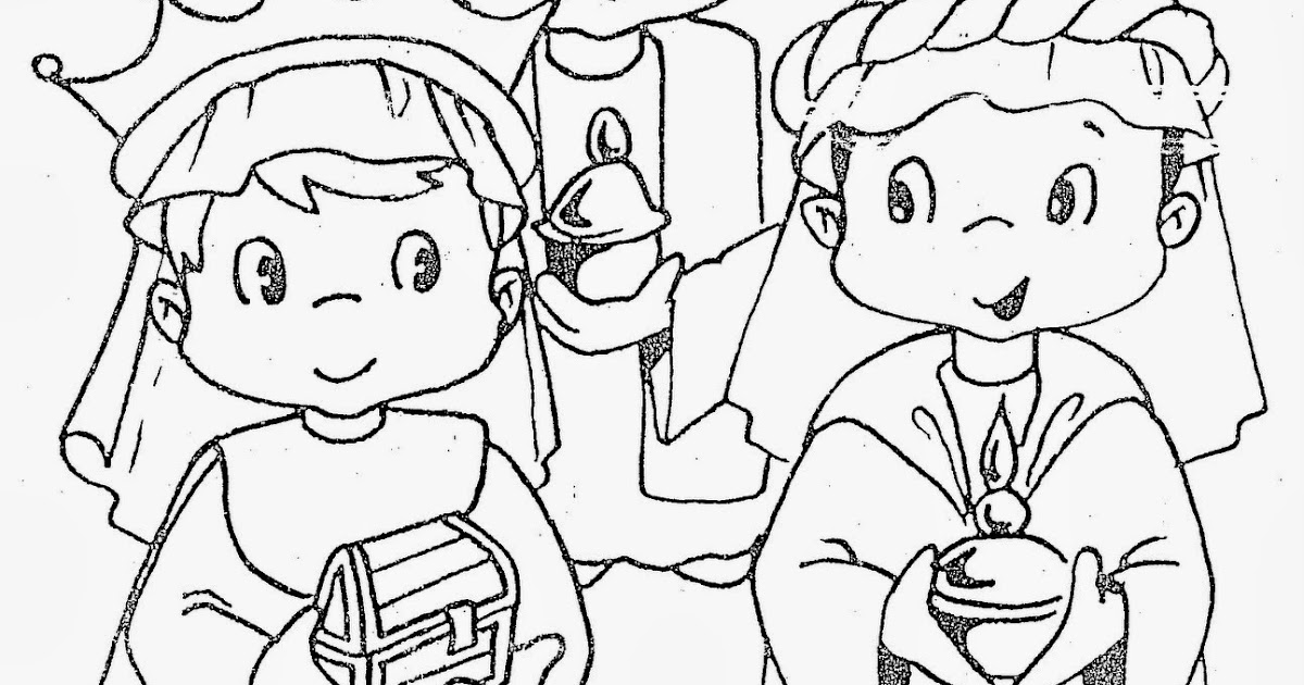 Dibujos Para Colorear De Los Tres Reyes Magos: Los Reyes Magos Para Colorear Y Recortar
