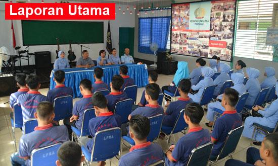 APAS : Suasana saat kunjunhan ke Lembaga Penempatan Anak Sementara (LPAS) Lembaga Pembinaan Khusus Anak (LPKA) Kelas II B. Foto Kapentak TNI AU SUpadio