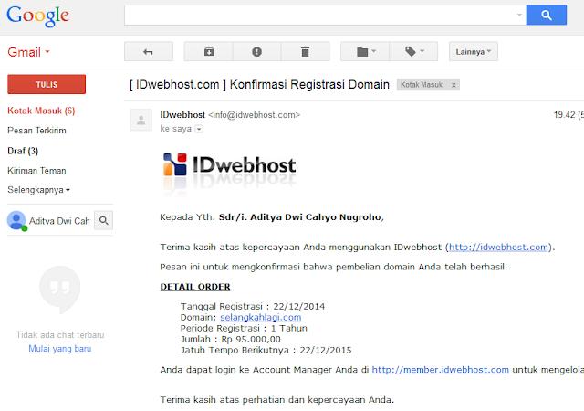 Tutorial Lengkap Cara Mengganti Domain .blogspot.com Menjadi .com (Blogger Custom Domain)