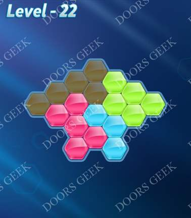 Block! Hexa Puzzle [Rainbow A] Level 22 Solution, Cheats, Walkthrough for android, iphone, ipad, ipod