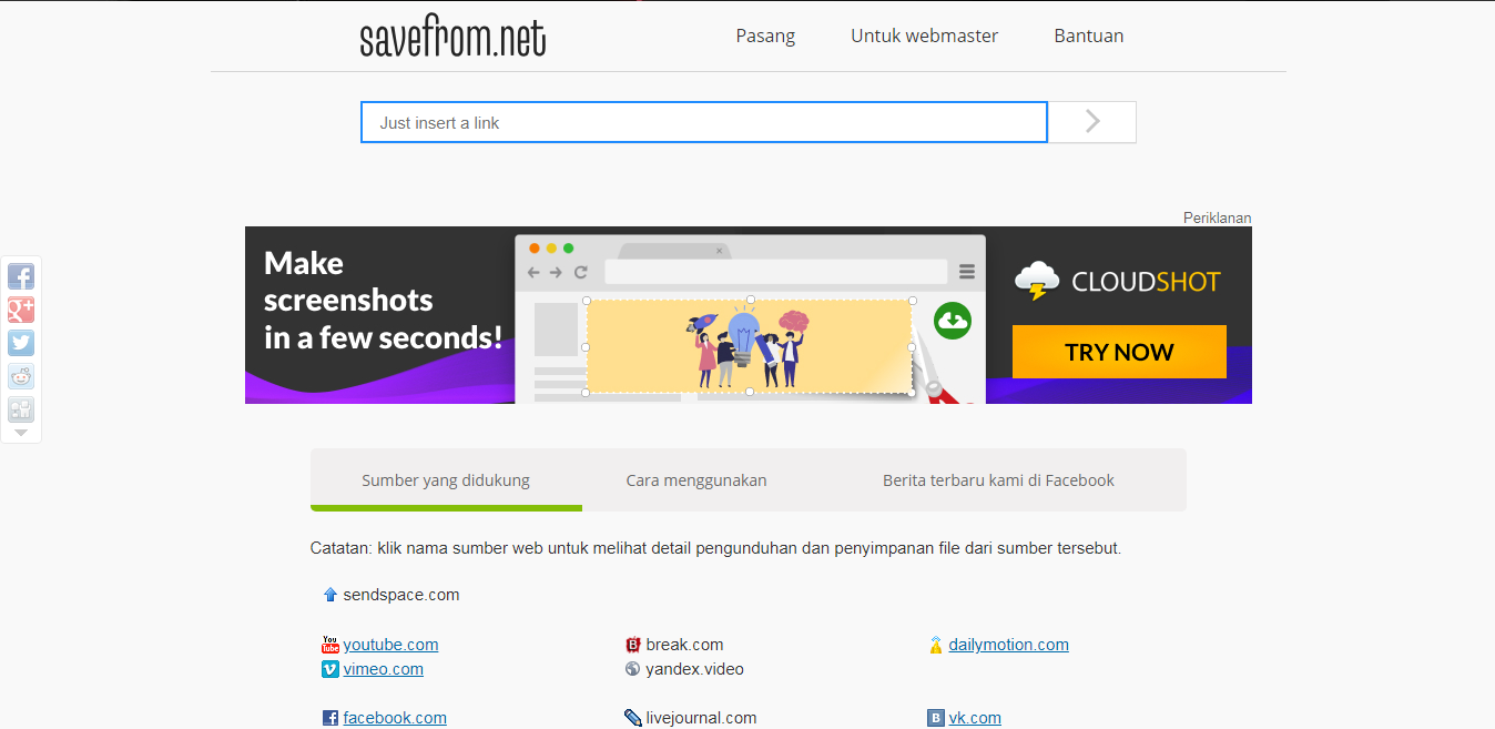 cara download video di website