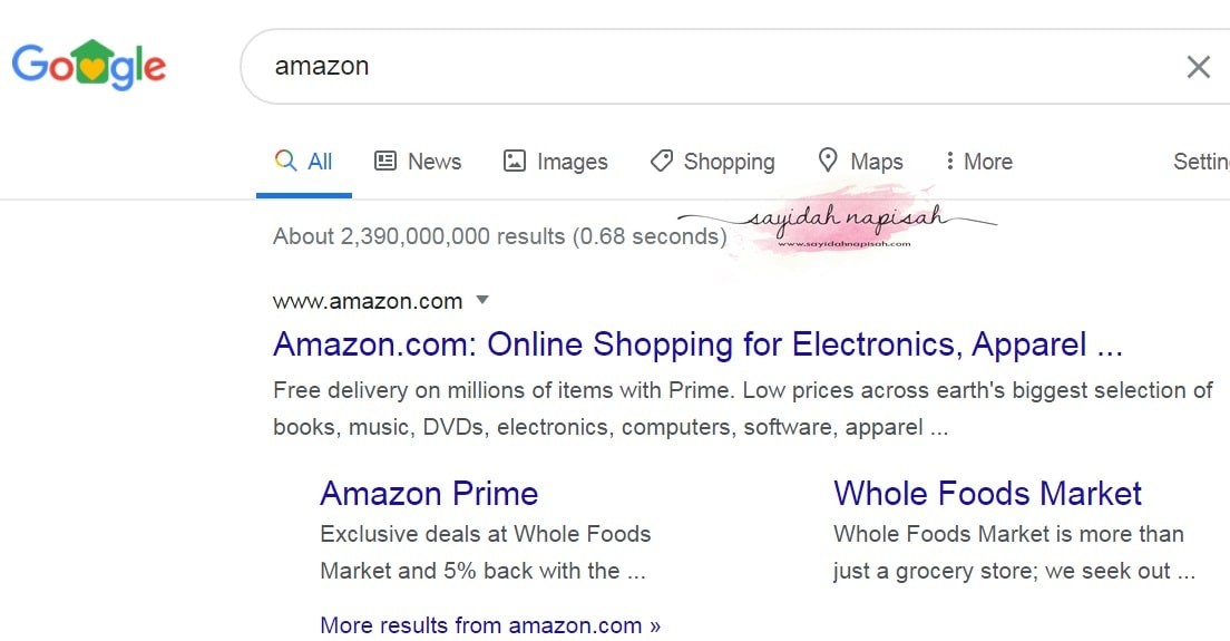 search keywords amazon