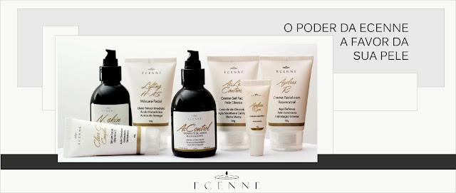 Ecenne,cosmética facial,cuidados faciais,oil free,dermatologicamente testado,regenera,tonifica,hidrata,reduz rugas e manchas,antioxidante,limpeza da pele