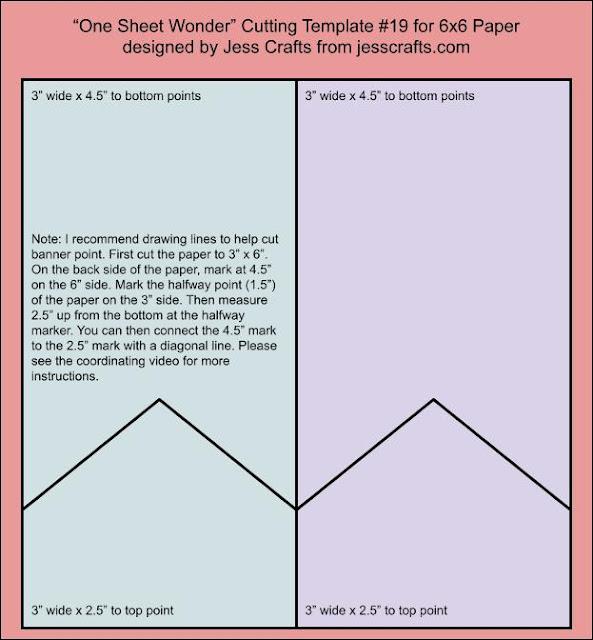 One Sheet Wonder Template #19 by Jess Crafts