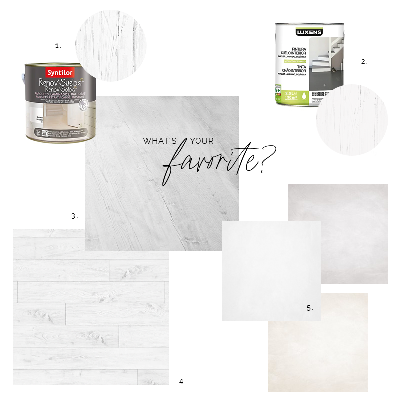 White floor at home / Poner un suelo blanco en casa