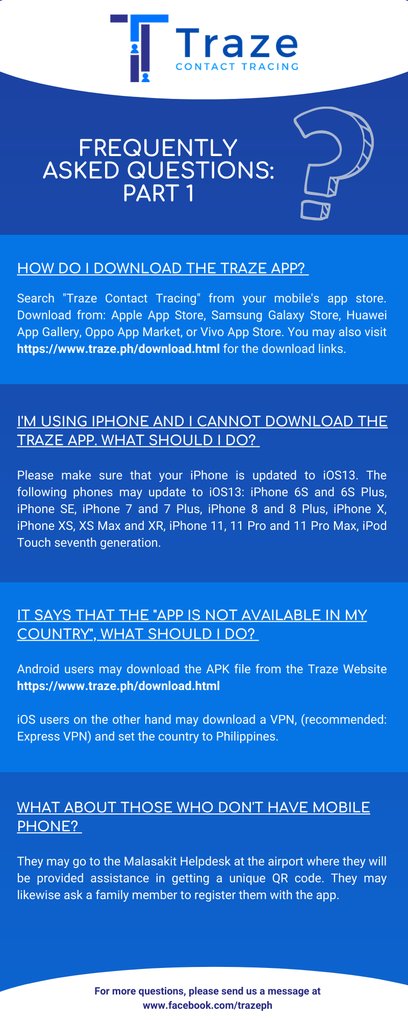 TRAZE APP: How to Download, Register, Activate and Use the Contact Tracing App?