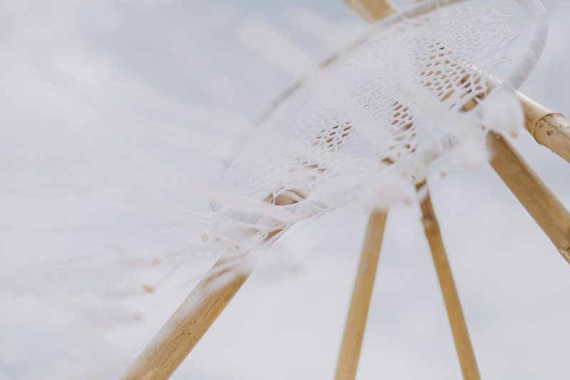 wedding white dream catcher detail
