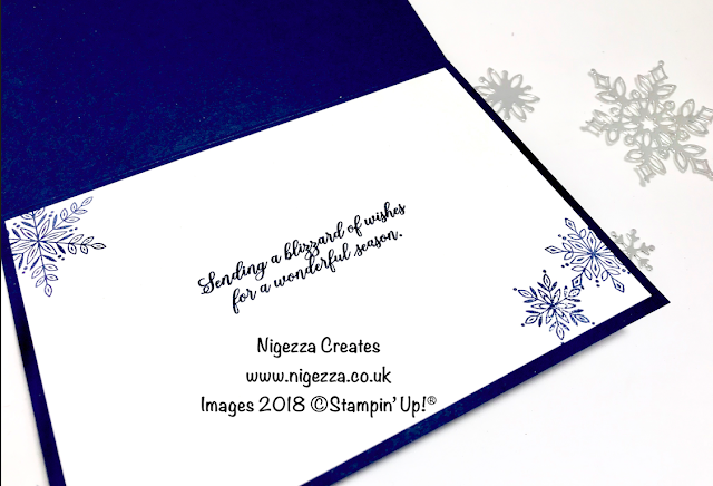 Snow is Glistening Christmas Card #2 Nigezza Creates