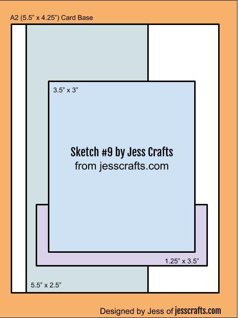 Card Sketch #9 by Jess Crafts
