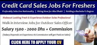 Requirement Sales Executive – Credit Cards Jobs Vacancy Mark AI Group Location Dubai