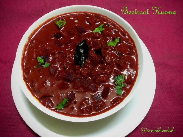Beetroot Kurma | How to prepare Beetroot kurma with step by step instructions | Kurma recipes | Side dishes for Chapathi