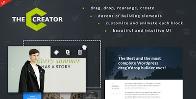 Download The Creator v1.1.0 Visual Page Builder WP Plugin