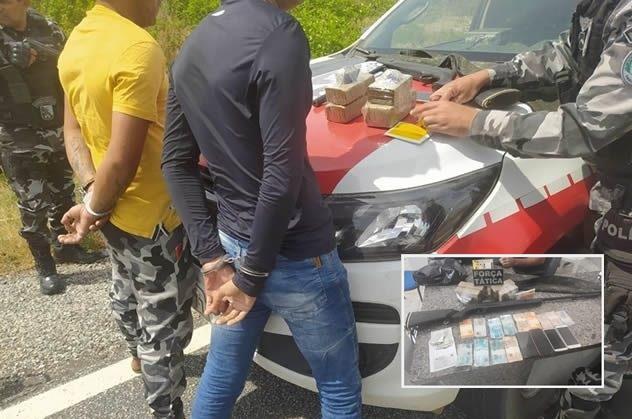 Polícia desmonta esquema do tráfico que levava drogas de Itaporanga para Piancó