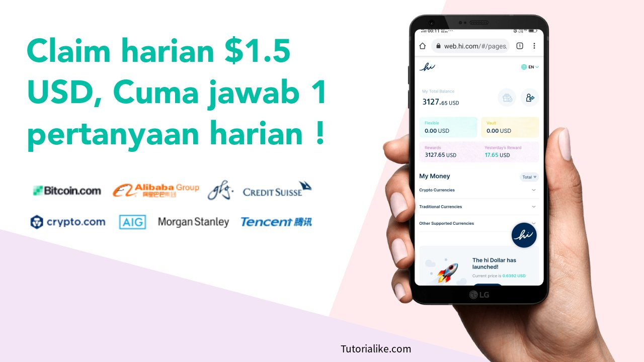 Klaim $1.5 USD Perhari ! Airdrop Crypto Hi Dollar Sudah Listing Uniswap 2021