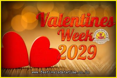 2029 Valentine Week List : 2029 Valentine Week Schedule, Hug Day, Kiss Day, Valentine's Day 2029