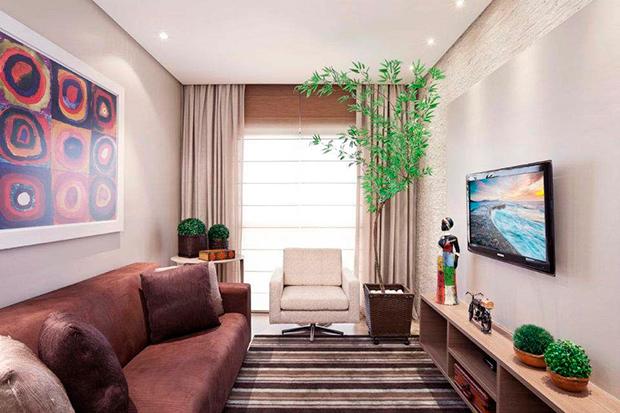 Como decorar salas pequenas dicas e inspira es decor for Decorar apartamento pequeno fotos