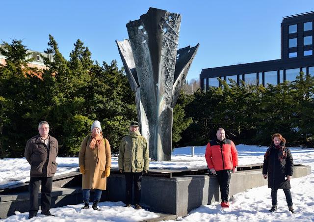 Kuvassa vasemmalta oikealle: Ari-Pekka Saven, Eva-Liisa Raekallio, Jukka Timonen, Max Rauvola ja Riikka Oksanen.