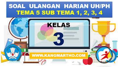 Bank Soal Ulangan Kelas 3 K13 SD.MI Tema 5 Subtema 1,2,3,4