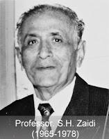 Prof S H Zaidi