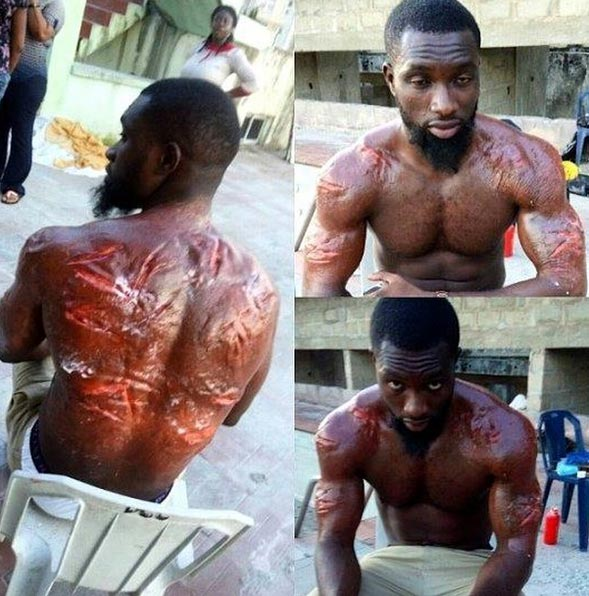 Check Out This Special Effects Makeup On A Nollywood Actor
