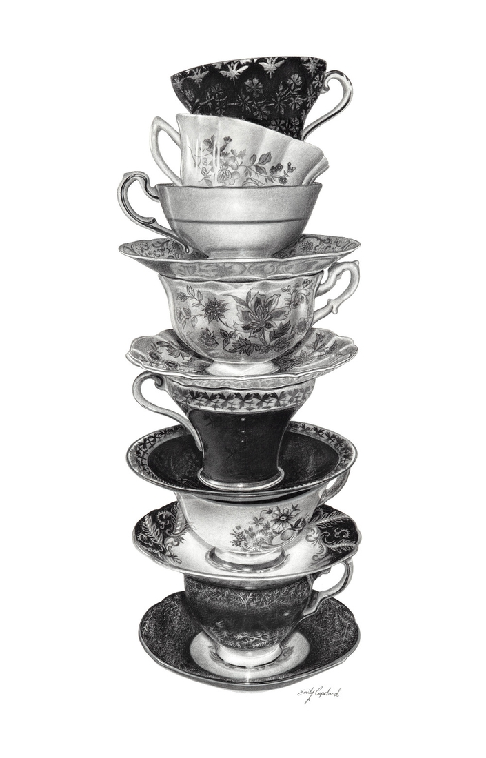 10-Tea-Cups-Emily-Copeland-Vintage-and-Retro-Objects-in-Photo-Realistic-Drawings-www-designstack-co