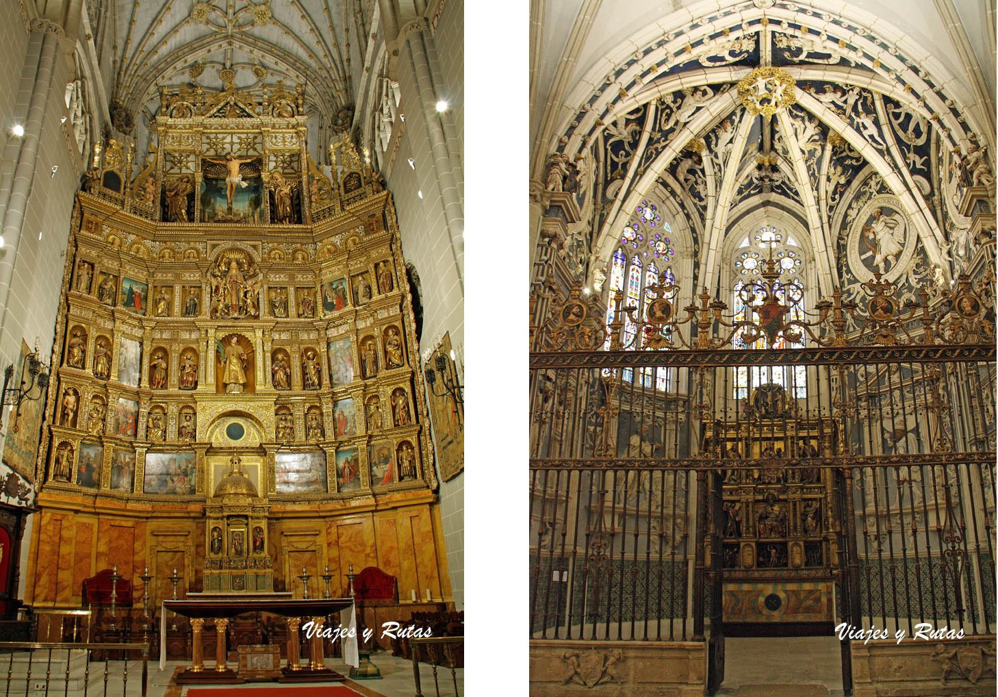 Detalles del interior de la catedral de Palencia
